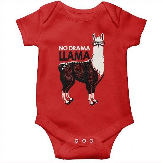 No Drama Llama Outfit Alpaca Shirt Llama Baby Tee