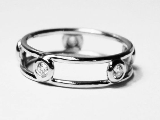For the minimalist bride:  TIFFANY & CO Elsa Peretti Double Wire Platinum Ring by BlueBoxJewelry, $850.00