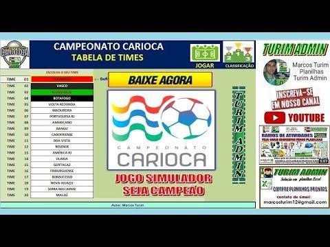 Baixe Gratis Game Jogo Simulador Do Campeonato Carioca 2020