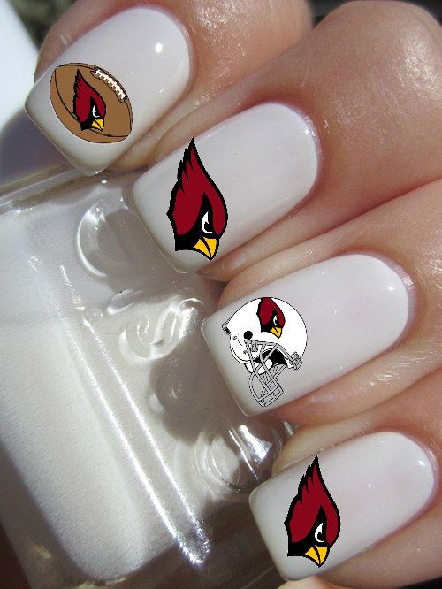 Arizona Cardinals Football Nail Decals by PineGalaxy on Etsy ...