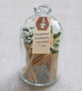 Apothecary Match Bottle - bought after seeing it on Pinterest and I love it!