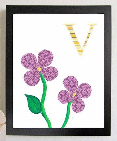 Look what I found on #zulily! Violets Alphabet Print by Just Bunch Designs #zulilyfinds
