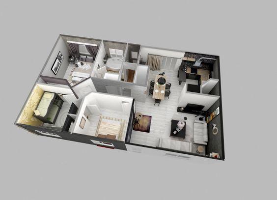 Planos de planta planos de dormitorios and dormitorio de apartamento