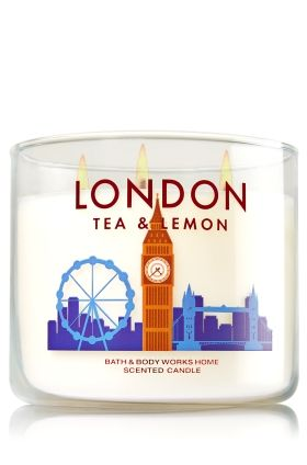 London tea lemon 3 wick candle home fragrance bath body works the perfect 3 wick - Burning scented candles home dangerous really ...