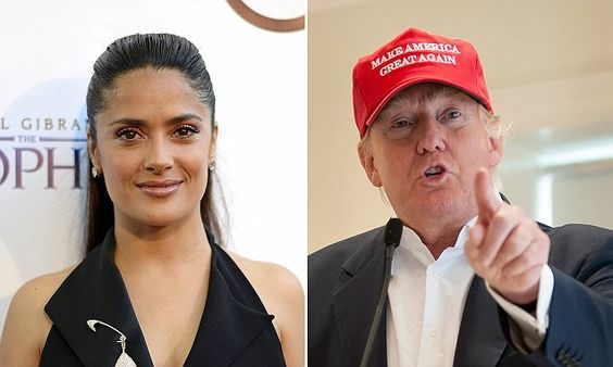 Salma Hayek hates Donald Trump so much she won't even say his name