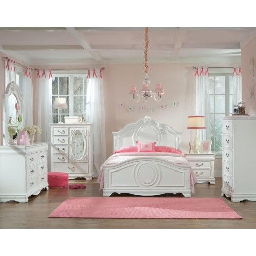 Standard Furniture Jessica Youth Panel Bedroom Set In White Paint In 2021 Girls Bedroom Sets Girls Bedroom Furniture Girls Bedroom Furniture Sets