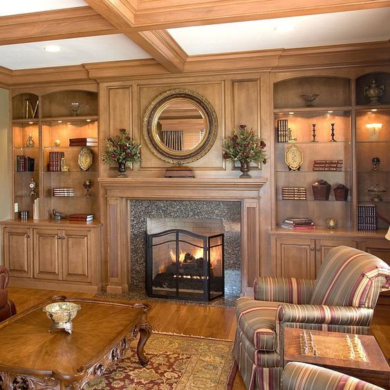 Brick furnace fireplace tiles black matt cozy home