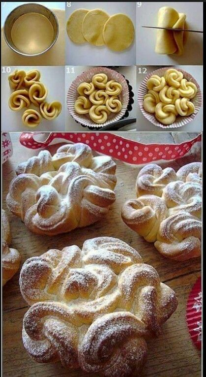 Look how beautiful this puff pastry design is!