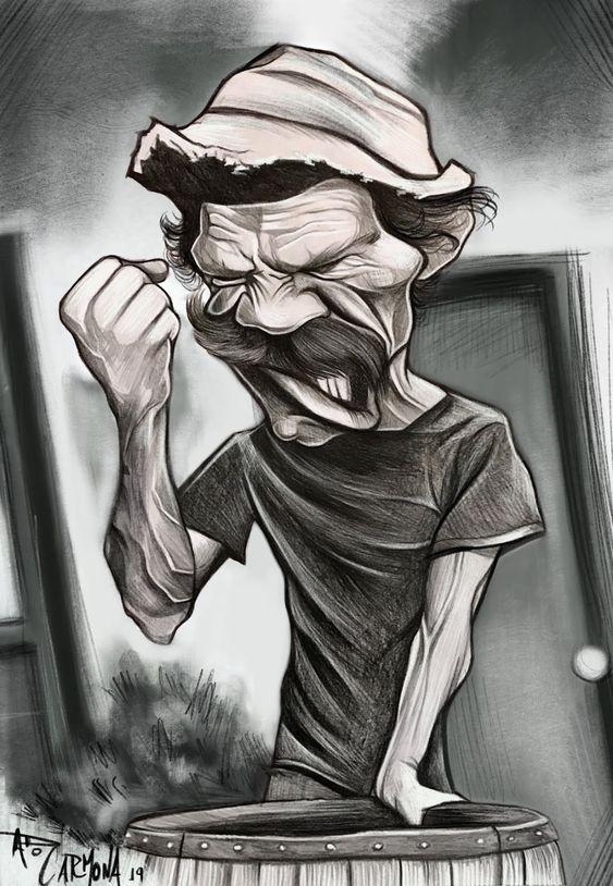 Don Ramón Caricatura de Ado Carmona