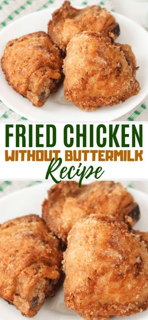 Crispy Fried Chicken Without Buttermilk Sims Home Kitchen In 2020 Fried Chicken Recipe Easy Best Fried Chicken Recipe Crispy Fried Chicken