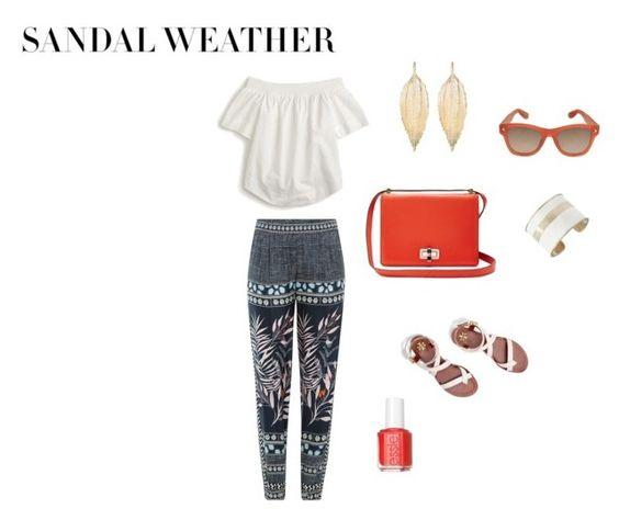 """Sandal Weather"" by randi202 ❤ liked on Polyvore featuring J.Crew, Diane Von Furstenberg, Tory Burch, Givenchy, Lucky Brand, Aurélie Bidermann and Essie"