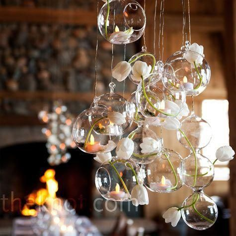 Ronda 12 Hanging Glass Globes With Images Candle Holders