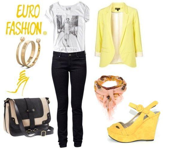 #Yellow #Plataformas #Contraste # fashion