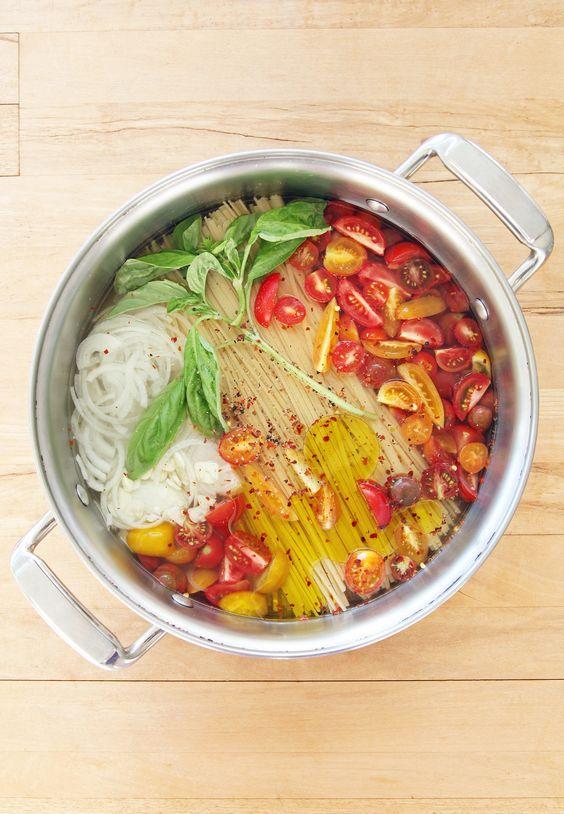 One Pot Pasta... C'est de la triche : c'est super simple en plus d'être délicieux et beau pour les yeux ♥