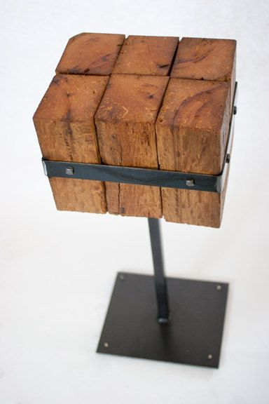 Handmade metal and reclaimed wood beam table, Featured at Shimano ...