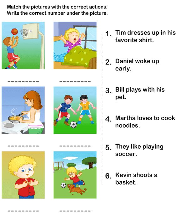 Action verbs, Worksheets and Kindergarten worksheets on ...