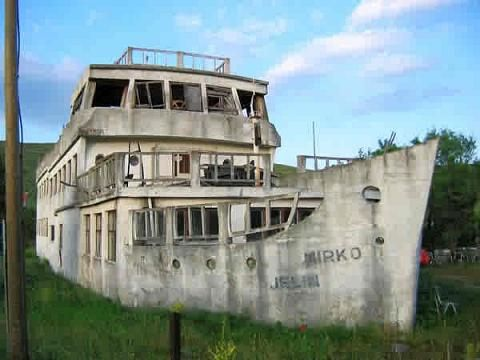 Weird house boat, Croatia