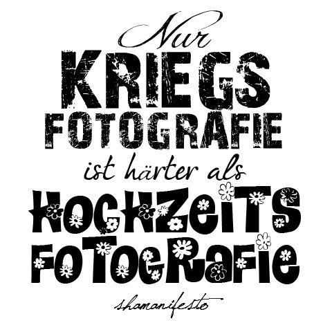 Nur Kriegsfotografie ist härter als Hochzeitsfotografie - ein Artikel über den zweithärtesten Fotojob der Welt.