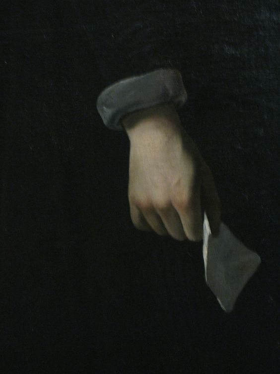 Diego Velazquez - Detail of hand - Portrait of Philip IV