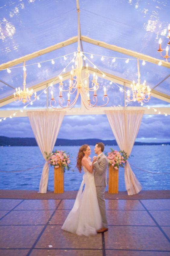 Waterfront Dancing on Lake Michigan | Photography: Harwell Photography - harwellphotography.com | Bride + Groom