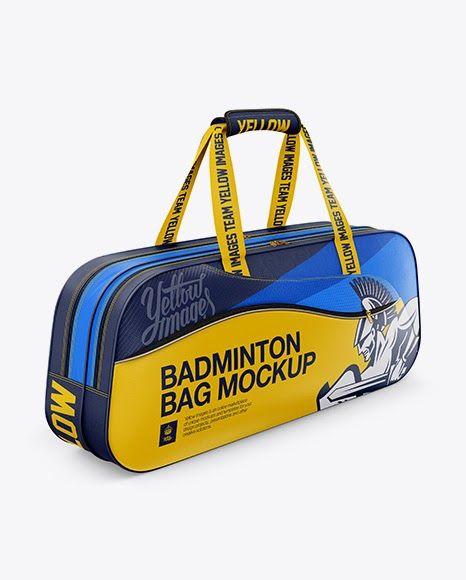 Download Badminton Bag Psd Mockup Half Side View Badminton Bag Bag Mockup Design Mockup Free