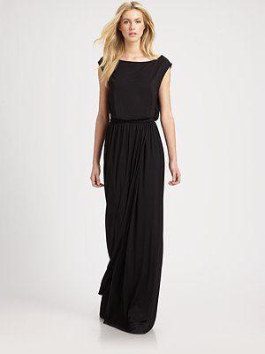 Rachel Pally  Boatneck Jersey Maxi Dress