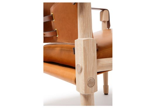 Officer's Lounger | Leather and Wood Campaign Furniture Collection | Ghurka