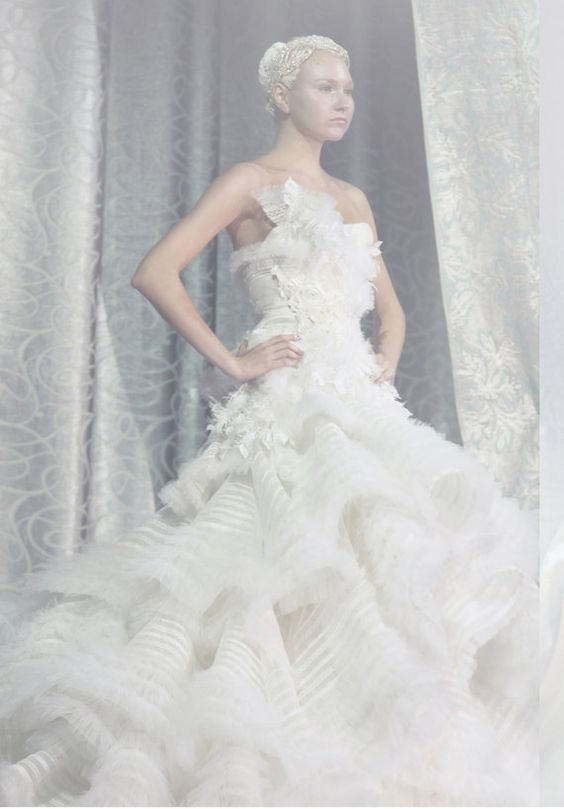 Katniss Everdeen MockingJay Wedding Dress Custom by SpindlyLobster, $750.00