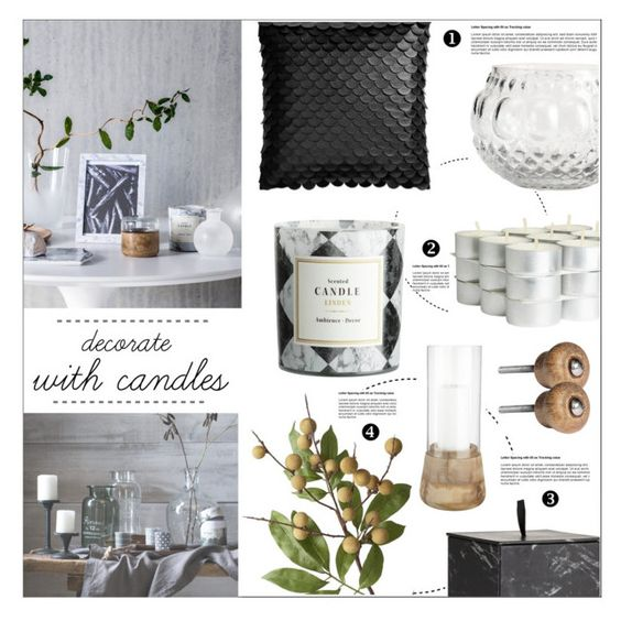 """Untitled #362"" by zitanagy ❤ liked on Polyvore featuring interior, interiors, interior design, home, home decor, interior decorating, H&M, Crate and Barrel and decoratewithcandles"