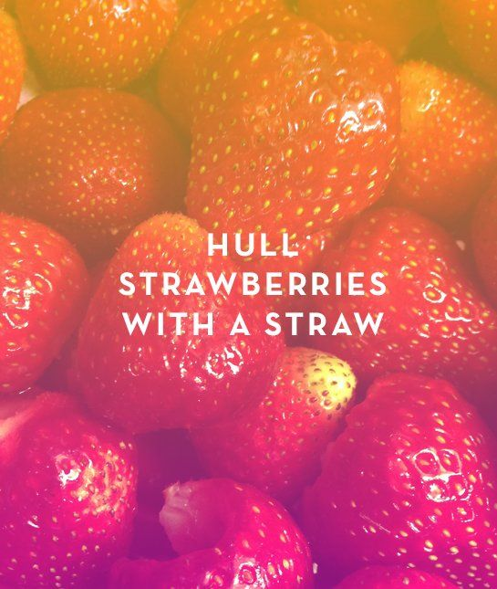 From quickly hulling strawberries to decorating cakes, these food hacks will save you loads of kitchen stress #ad #stresssweat