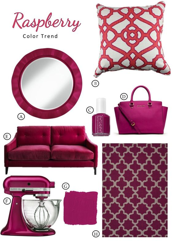 Raspberry Trend Report Board By New South Home NSH Mood Boards - board report