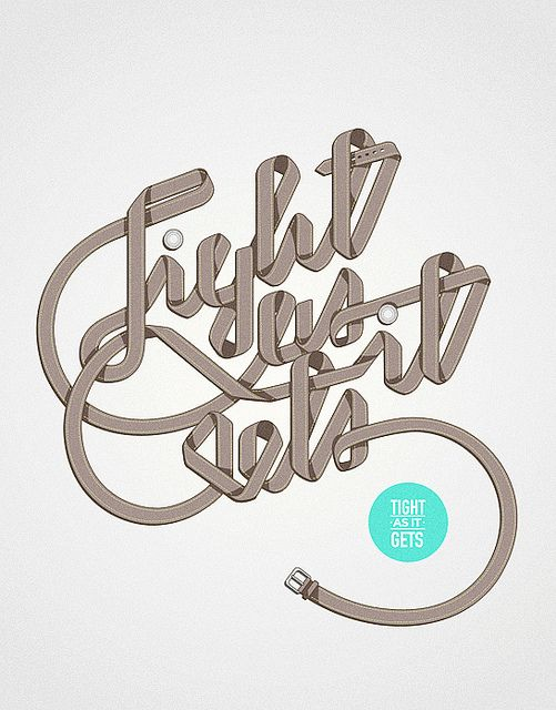 Tight as it gets | Designer: Marko Purac - http://www.flickr.com/photos/sepra4life/ #typo #typography #lettering #logo #design