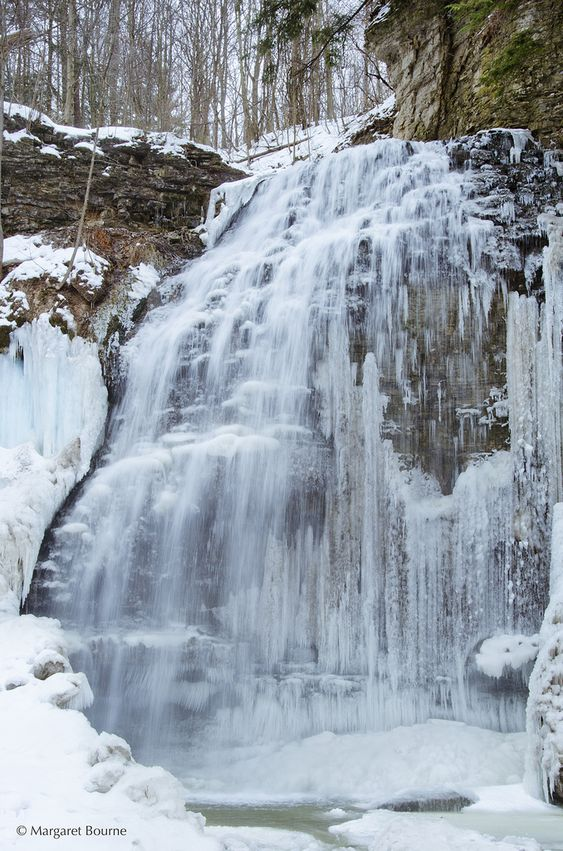 Tiffany Falls in the Winter, Hamilton, Ontario, Canada: