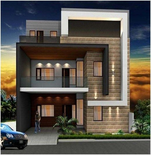 25 Awesome Modern Tiny Houses Design Ideas For Simple And Comfortable Life Anaksehat Site Modern Minimalist House Duplex House Design House Exterior