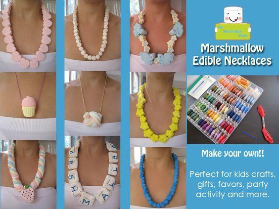 Edible Marshmallow Necklaces