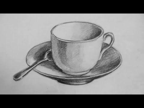 كيف ترسم فنجان قهوة ثلاثي الأبعاد 3d Youtube Landscape Pencil Drawings Basic Drawing Pencil Drawings