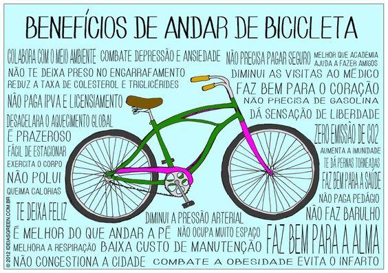 Benefícios de andar de bike: