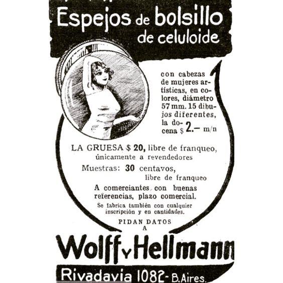 Espejos de bolsillo #ads #argentina #buenosaires #vintage #1920