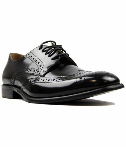 PAOLO VANDINI Naver Retro Mod Classic High Shine Leather Brogues