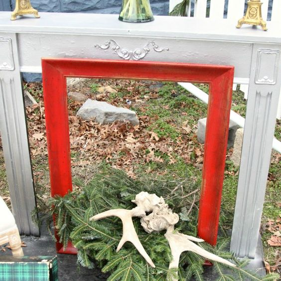 Free standing mantel: Free standing mantel- can rent from stylish patina