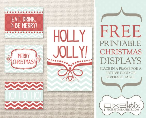 Lots of great FREE Christmas printables. Cupcake toppers, scrapbook paper, bottle wrappers, tags, and more!