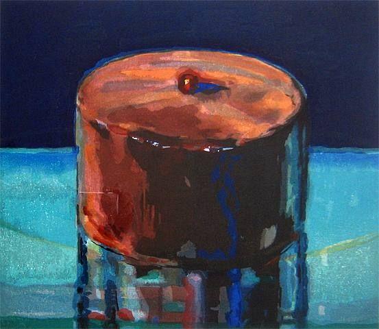 Wayne Thiebaud Dark Cake 1983 Woodcut