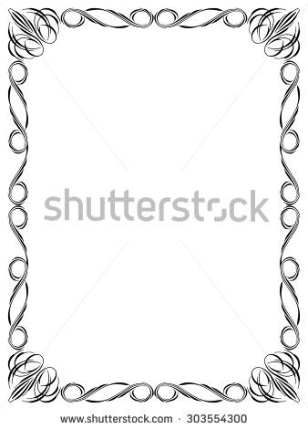 Calligraphy Ornamental Decorative Frame Page Borders And