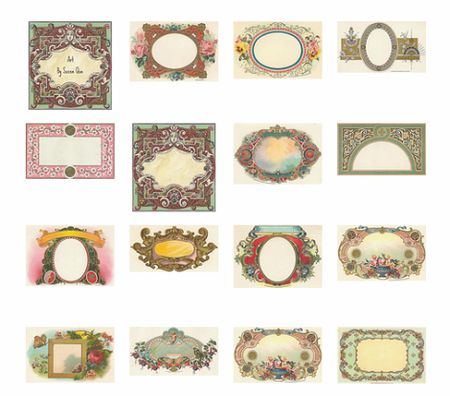 art nouveau blank labels