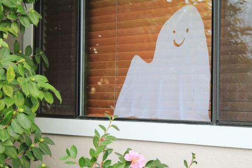 Ghosts in the House window decoration
