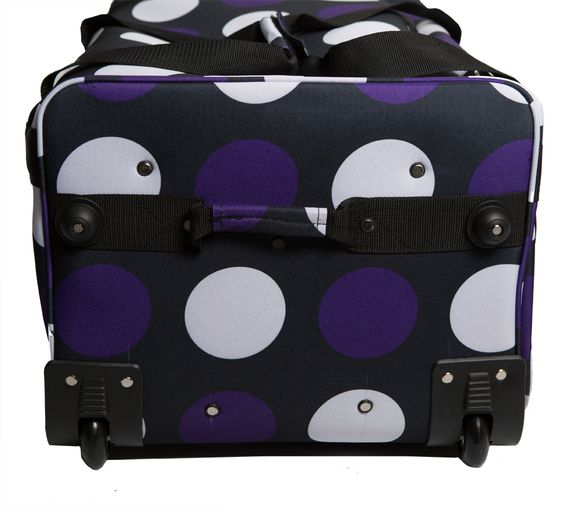 Rac n Roll Purple Polka Dots