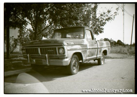 1972 Ford F-100 pickup, junked -real-