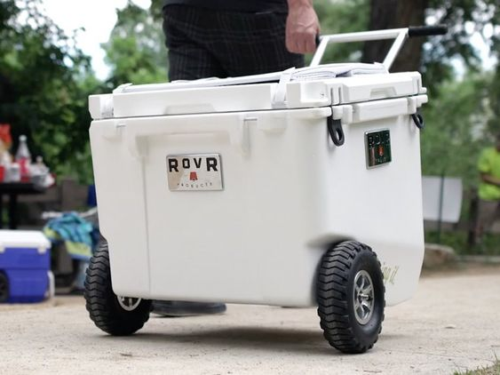 High Performance Cooler with Wheels - 60 Quart - Orange