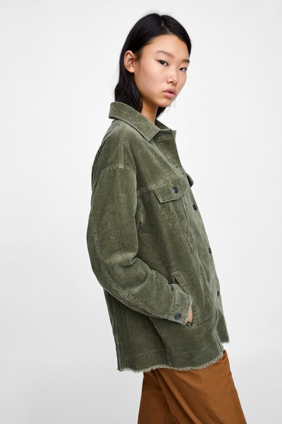 comprar auténtico famosa marca de diseñador estilos clásicos CAZADORA PANA de Zara.   OUTERWEAR   Cazadora y Zara