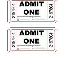Printable Admit One Birthday Party Invite - Printable Birthday Invitation Cards - Free Printable Invitations